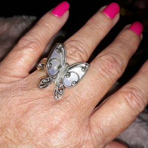 Beautiful Vintage Butterfly Ring in SS
